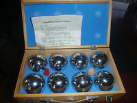New bocci ball set in case with instructions, used only twice,
