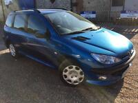 2005 '55' Peugeot 206 1.4 SW Petrol. Manual. Estate. Ideal Small Family. Px Swap