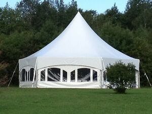 34X40 Hexagon Tents, Tables & Chairs for Sale
