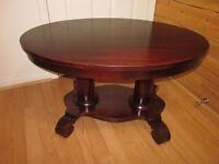 Superbe Table de Salon Ovale Antique en bois Massif