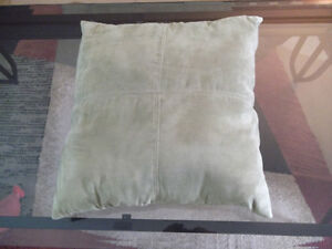Cushions - 4 - Green Ultra Suede