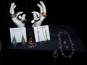 LOT OF 11 PIECES OF LIA SOPHIA NEW WITH TAGS,PLUS ONE WATCH&RING