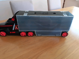 Toy car storage truck