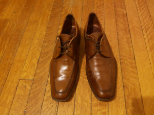 MEN'S CANALI BROWN DERBY SHOES $600+