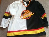 Official Vintage Canucks Jersey- Half black half white