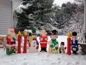 Decorations Noel Vintage Christimas Blow Molds