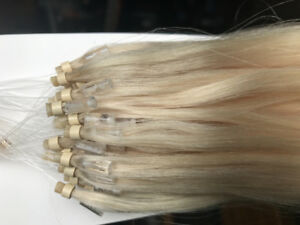 "18"" Platinum Blonde Micro bead Extensions with extra Micro Beads"