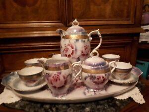 Iridescent tea/coffee set from Germany