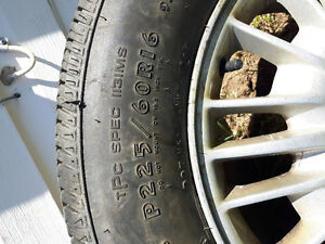 2 barely used all season tires on rims