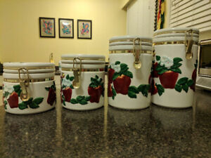 Gourmet Home Accents Ceramic Canister Set of four