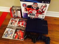 PS3 250GB,  2 Manettes WWE NHL NFL NBA MLB