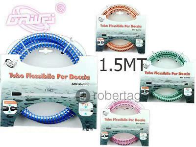 FLESSIBILE TUBO DOCCIA PLASTICA 150CM ATTACCO 1/2 PVC ANTI RUGINE RESISTENTE SC0