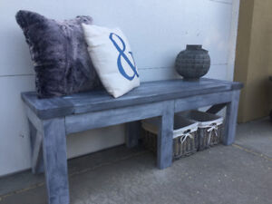 Farmhouse bench. Solid wood and locally made.