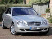 2003/03 MERCEDES BENZ S600L 5.5 V12 500 BHP, 57k MILES