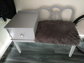 Lovely grey telephone table/seat