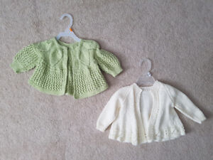 Knit baby sweaters x2