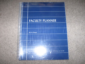 Teacher's Faculty Planner-Brand New and sealed + bonus -$5 lot