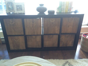 IKEA Expedit, Black/Brown color 2 x 4 version