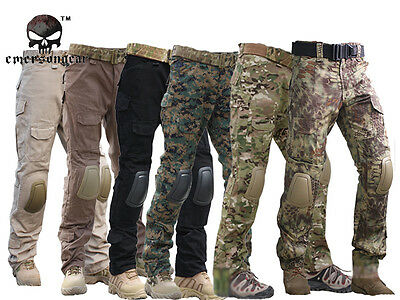 *Tactical Pants with Knee Pads, Emerson Gen2 Camping Hiking Hunting Trousers CP* ()