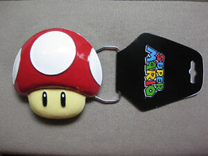 Nintendo Super Mario Red Mushroom Belt Buckle with FREE bracelet