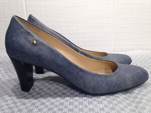 New Leather Shoes Denim color