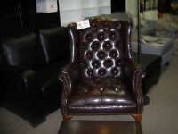 Queen Anne Chair with Ottoman