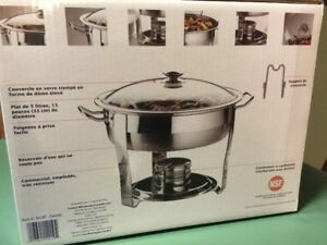 2-Brand New-TWO - 5 Quart Commercial Chafing Dishes in Boxes