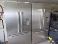 Stainless French door & side x side fridges range to match