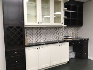 Shaker Espresso and Off White solid wood kitchen on SALE!!