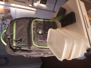 Original Six pack fitness  expedition backpack in green and grey