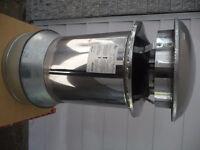 Section cheminée extéreur et adapteur réduit