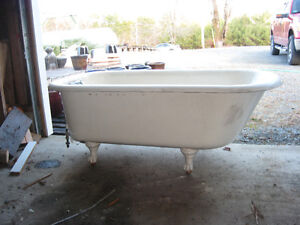 5 ft antique cast iron claw foot tub - price reduced