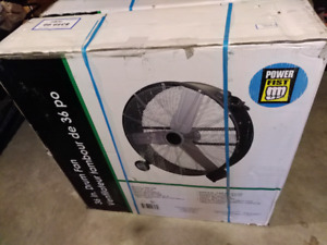 """Brand new in box 36"""" drum fan with enclosed motor"""