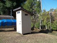 Outhouse toilet