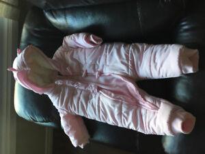 Pink snowsuit 18M very cute
