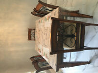 Six chairs dining table