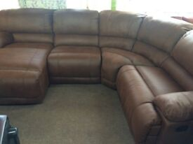 Harvey's governer corner reclining sofa ex display model