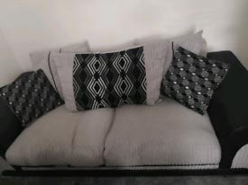 Black/Grey Sofa for sale
