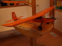 2 RC PLANES WITH ENGINES AND SERVOS.