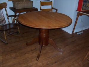 Pedestal Base Dining Table 42 Inches in Diameter