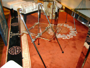 Lucite & chrome chairs Kitchener / Waterloo Kitchener Area image 1