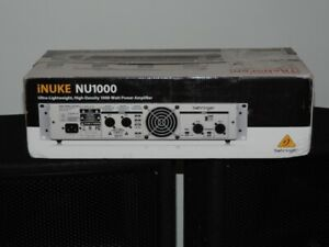 BEHRINGER NU1000 INUKE POWER AMP - FOR SALE   less than 7 pounds