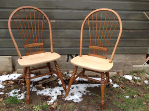 2 Dining Chairs-Wood- $10.00 for both