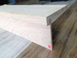 SOLID OAK STAIR TREADS ONLY $17.99 ~ RISERS ONLY $4.99