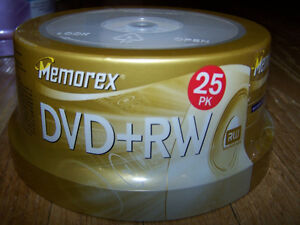 Memorex DVD+RW Rewritable DVD Discs 25 Pack (New)