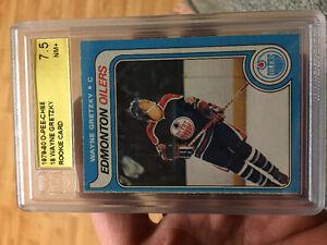 OPC Wayne Gretzky rookie card graded 7.5