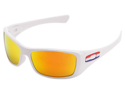 Oakley Hijinx Holland Country Flag Sunglasses 24-214 Polished White/Fire (Hijinx Oakley Sunglasses)