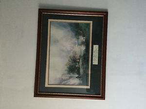 Very beautiful picture  with wood frame