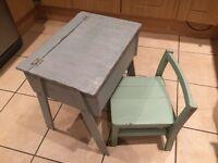 Vintage Child's Desk & Chair