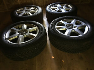 """2011 Audi Q7 18"""" wheels with winter tires"""